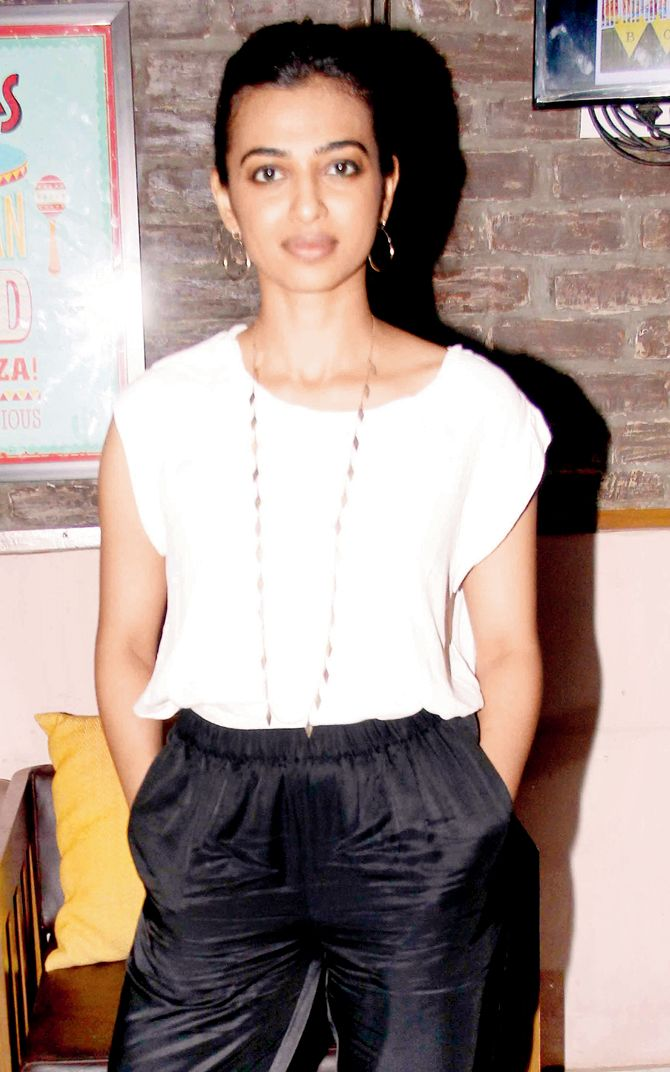 Radhika Apte at the launch of her movie 'Bombairiya'. #Bollywood #Fashion #Style…