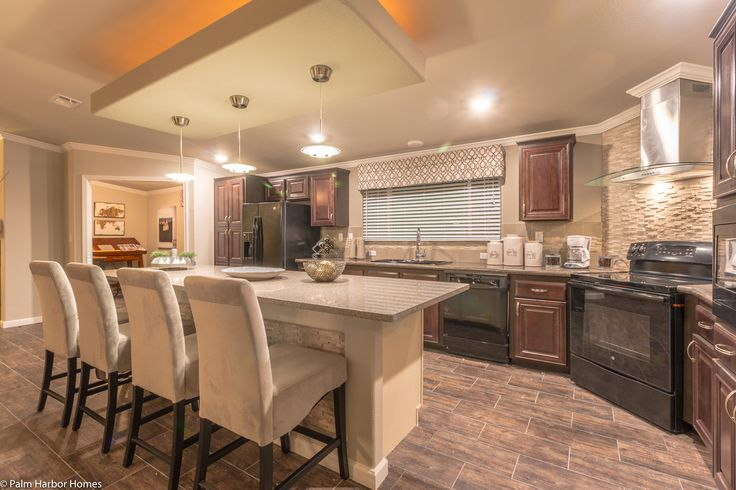 Stunning kitchen in the new La Belle VR41764D model by Palm Harbor Homes | Manufactured Home or Modular Home #FloorPlan - 4 Bedrooms, 3 Baths, 2,897 Sq. Ft.