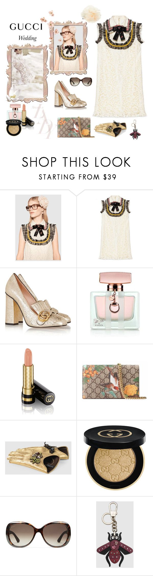 """""""May, wedding season kick off- the Gucci girl guest"""" by juliabachmann ❤ liked on Polyvore featuring Gucci and Accessorize"""