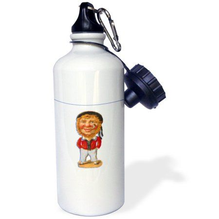 3dRose Victorian Era Illustration Sailor with Red Hair and a Pipe, Sports Water Bottle, 21oz