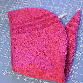 Hair Towel Tutorial. My kids always want to wrap their hair but can't with those big towels.