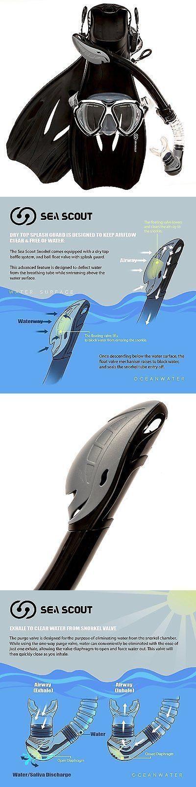 Snorkels and Sets 71162: Panoramic Mask Fins Snorkel Swim Gear Promate Set Snorkeling Cuba Dive New -> BUY IT NOW ONLY: $49.66 on eBay! http://www.deepbluediving.org/best-scuba-diving-mask-reviews/ #ScubaDivingEquipmentandSites #scubadivingequipmentwatches