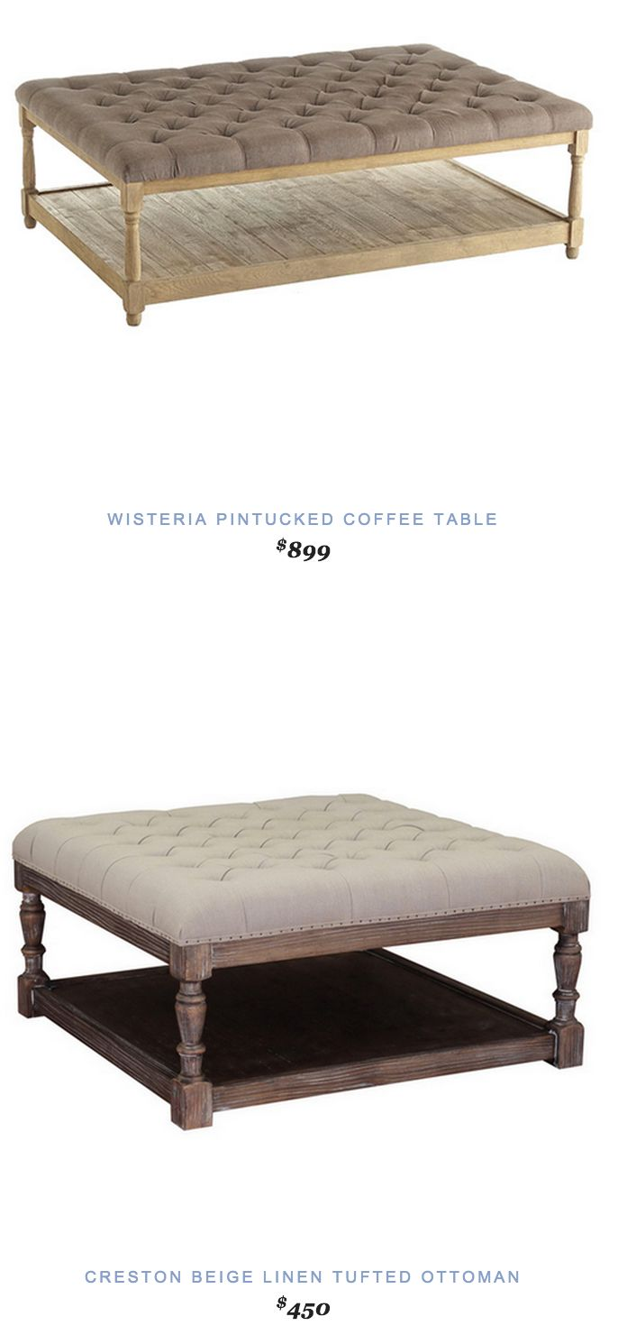 1000 Ideas About Tufted Ottoman Coffee Table On Pinterest Ottoman Coffee Tables Tufted
