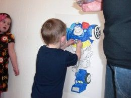 Pin the badge on the bot game