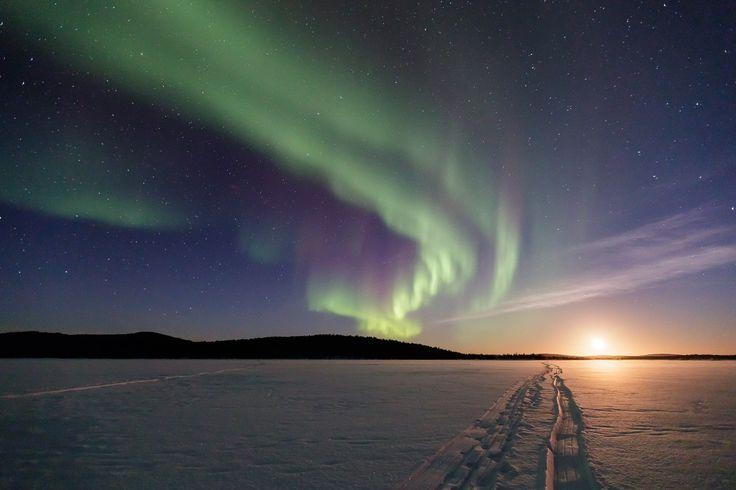 Northern lights - Aurora Borealis - time-lapse video - Lapland - new blueprint alberta northern lights
