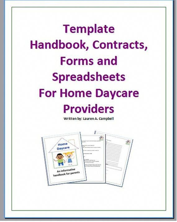 Home Daycare Handbook Contracts Forms and by CrazyDiamondPhotos