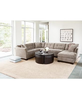 Elliot Fabric Sectional Collection Created for Macyu0027s  sc 1 st  Pinterest : cozy sectional sofas - Sectionals, Sofas & Couches