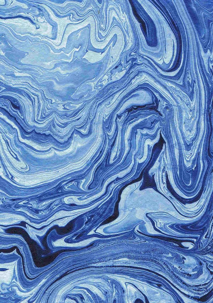 Blue patterns possibly made by marbleizing by swirling inks on top of water.