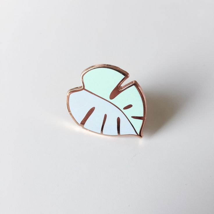Pardon My Tone                  - Minty Monstera enamel pin, lapel pin, 28 mm