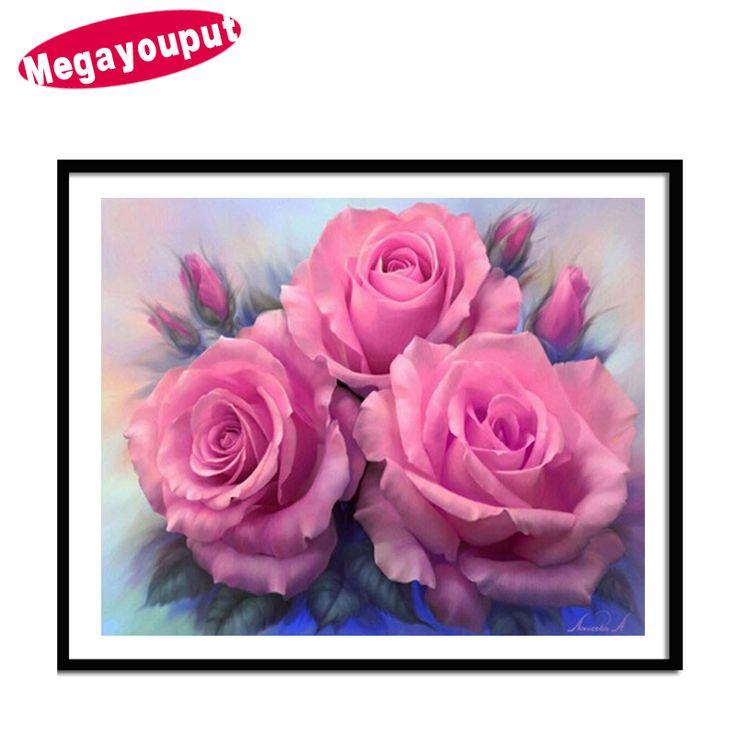 5D diy diamond painting cross stitch Diamond mosaic embroidery pink Peony Flower picture round diamond wedding decoration gift #Affiliate