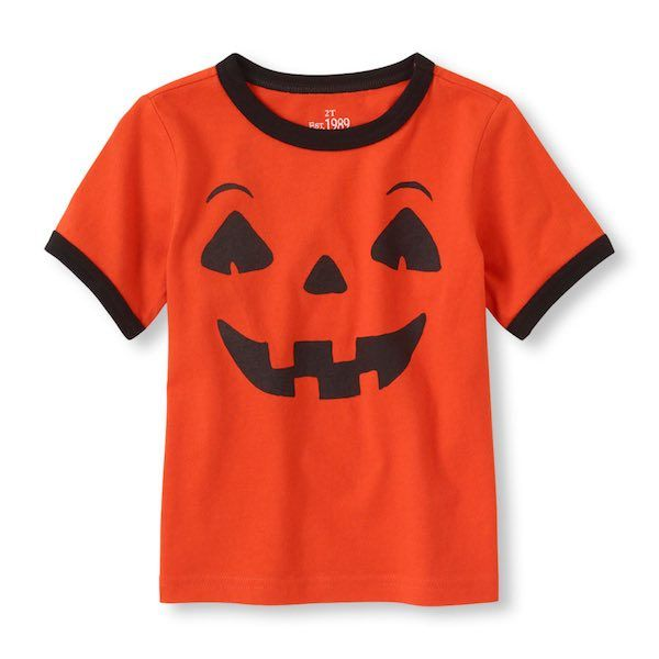 """Head over to The Children's Place.com to score some cheap Halloween shirts for your kids! Get this Jack-o-lantern shirt for only $2.25 shipped when you use the promo code """"SAVEMORE3""""! Just search Halloween and grab your favorite now! They will sell out fast, so don't miss out!"""