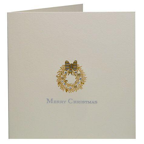 Buy Julie Bell Stationery Golden Wreath Christmas Cards, Pack of 5, Cream Online at johnlewis.com