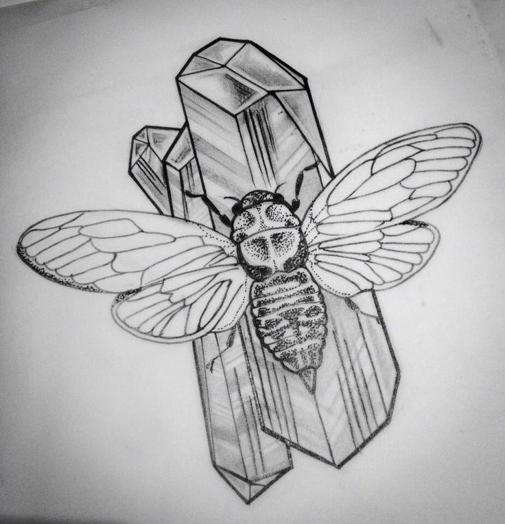 23 best locust cicada tattoo images on pinterest cicada tattoo tattoo ideas and bug tattoo. Black Bedroom Furniture Sets. Home Design Ideas