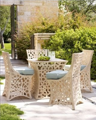 Gorgeous outdoor furniture.Openwork Outdoor, Outdoor Seats, Outdoor Living, Modern Patios, Patios Furniture, Outdoor Furniture, Outdoor Patios, Gardens, Outdoor Spaces