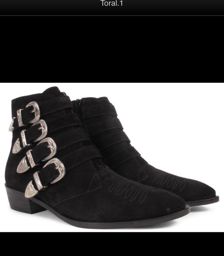 Chaussures Basses Avec Des Rivets Et Boucles Laarzen Zwart Bronx mLp0ErfHk