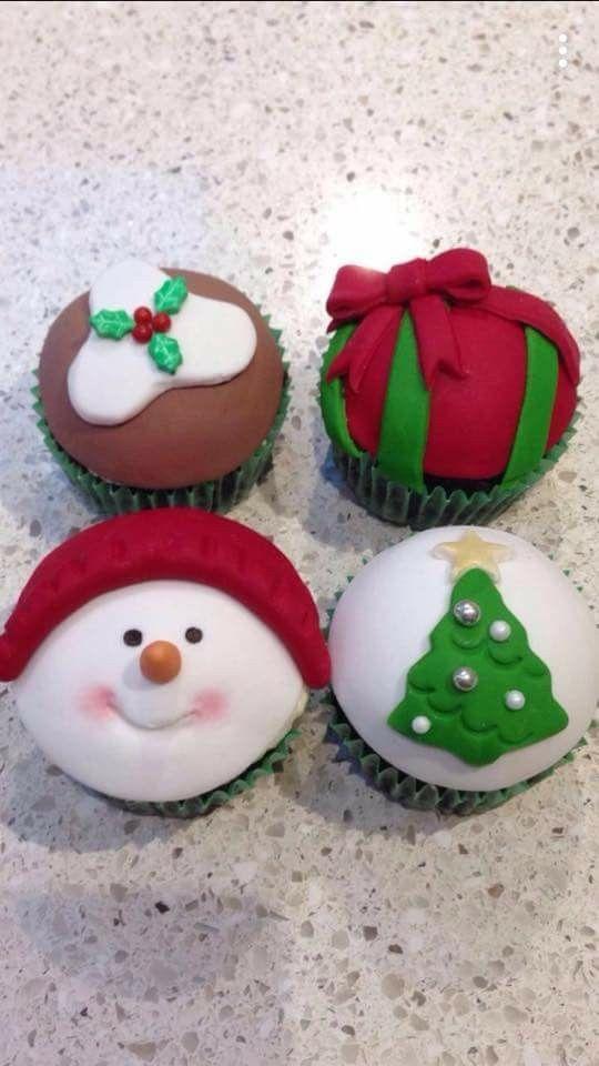 Christmas themed cupcakes