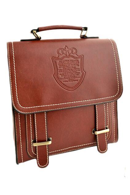 Romwe Buckled Multipurpose Retro Backpack
