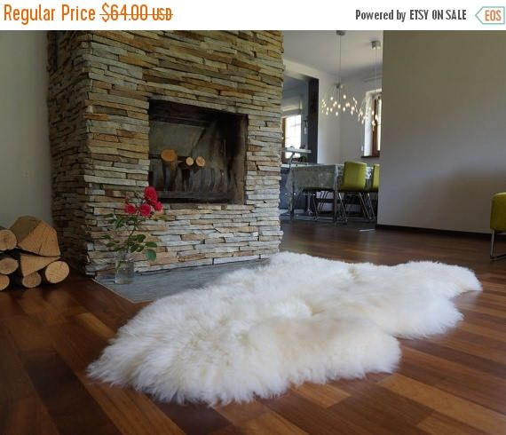 """ON SALE Original, Natural GIANT Rug Xxl 50"""" x 30"""" White Genuine Natural Sheepskin Rugs Exclusive Rug Area Rugs Carpet Outdoor Rugs Cheap Rug by ExclusiveRug on Etsy https://www.etsy.com/listing/462670011/on-sale-original-natural-giant-rug-xxl"""