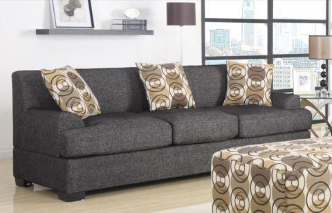 Sandford Three Seat Sofa Ash - Chaise Sofas