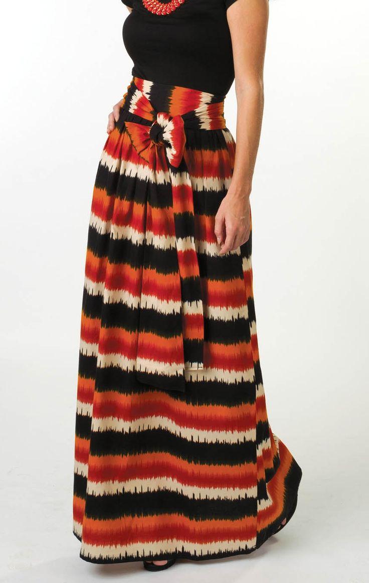 Check out this high style, High Waist Bow Skirt | DIY maxi skirt. :)