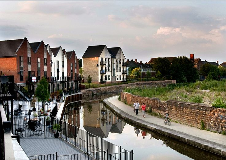 This is the modern face of #Stoke on Trent. These houses were built on the site of an old Pottery Factory.