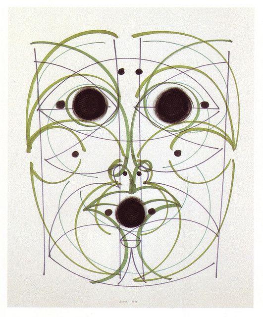 'Presence of the Ancestors 1' (1970) by Italian artist & designer Bruno Munari (1907-1998). via 50 Watts