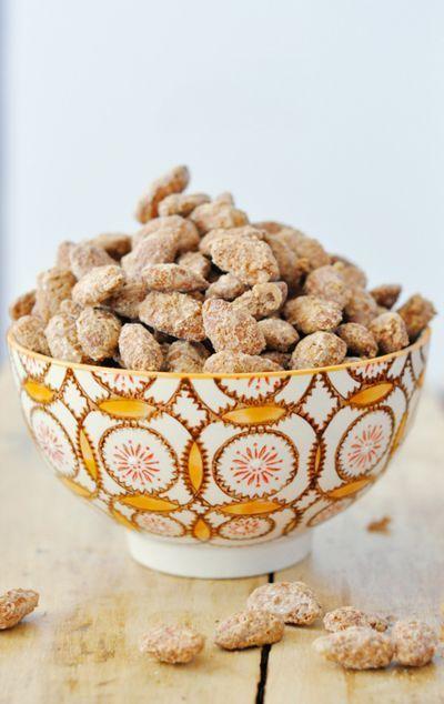 Apple cinnamon almonds: http://www.stylemepretty.com/living/2014/10/01/15-fall-recipes/