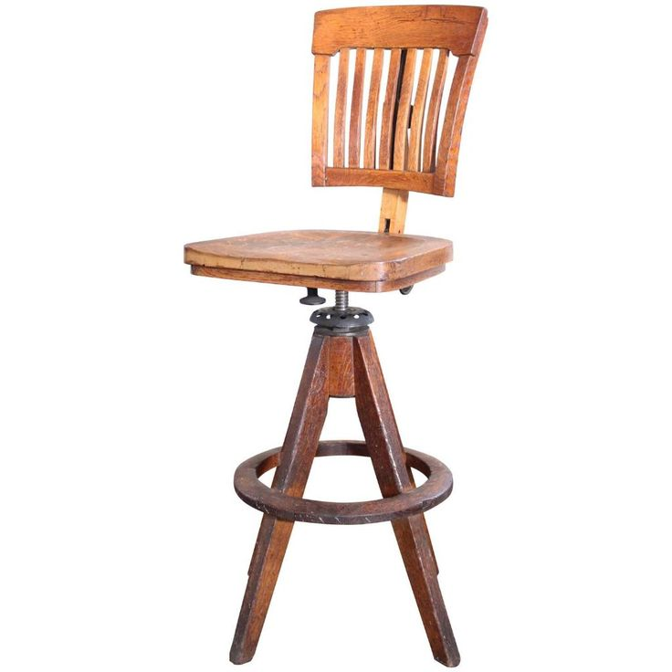 Captivating Vintage Industrial Wood And Cast Iron Adjustable Drafting Stool Made By  Cook   Get Back Inc