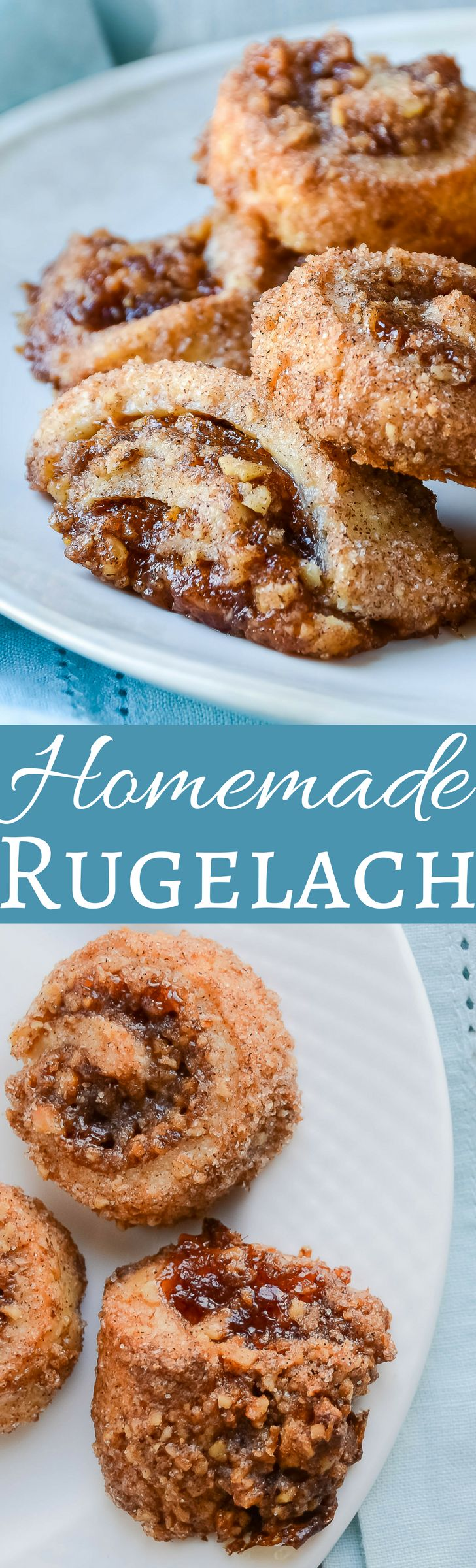 It's not the holidays without rugelach!  Cream cheese pastry filled with apricot & strawberry and rolled in cinnamon sugar and nuts!  OMG!