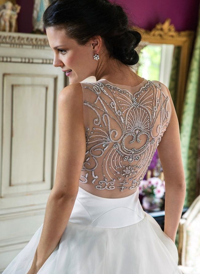 LOVE the back of this dress? You should see the front! #AnnaSchimmel featured on Truly and Madly: http://www.trulyandmadly.com/categories/bridal-dresses