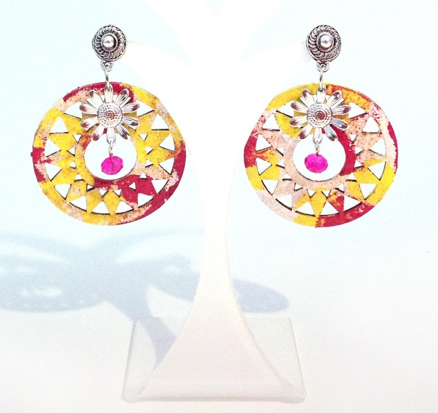 handmade and hand painted earrings - collection Miami by FrancescC. http://www.facebook.com/FrancescaC.handmadejewels?ref=hl