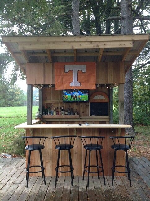 23 best images about redneck deck bar on pinterest navy for Rustic outdoor kitchen ideas