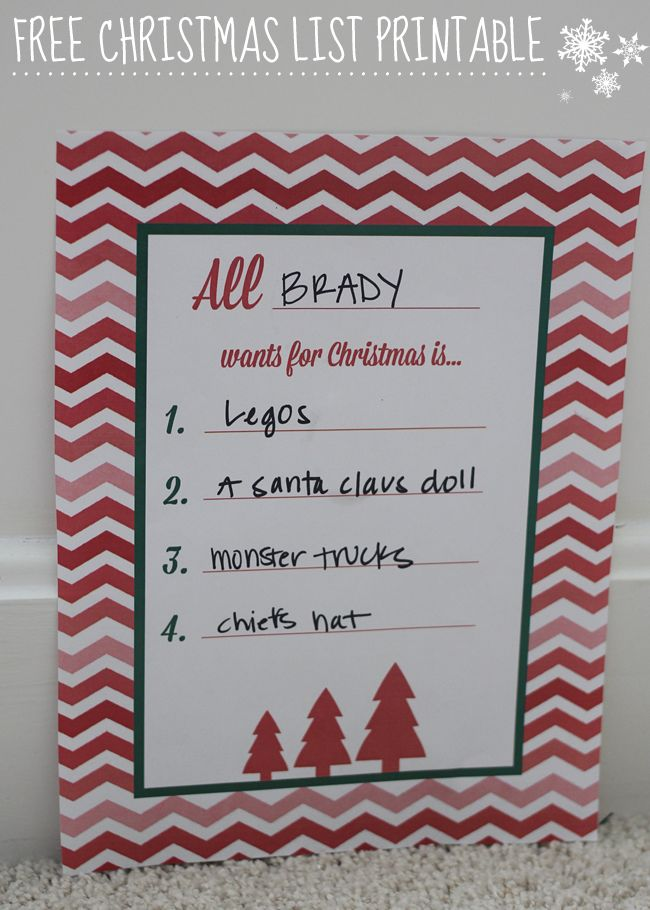 17 Best Ideas About Christmas List Printable On Pinterest