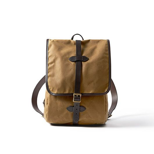 The Tin Cloth Backpack in Tan (made in usa, union-made)