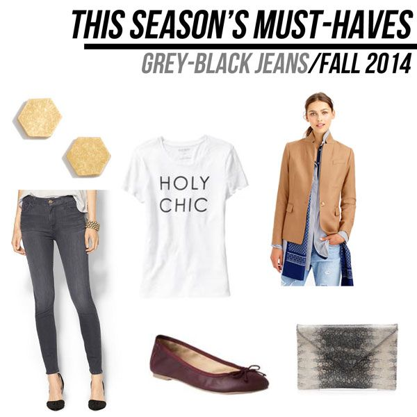 jillgg's good life (for less) | a style blog: fall must haves 2014: grey-black jeans!
