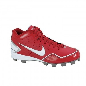SALE - Kids Nike 3/4 BG Baseball Cleats Red Leather - Was $34.99 - SAVE $5.00. BUY Now - ONLY $29.99