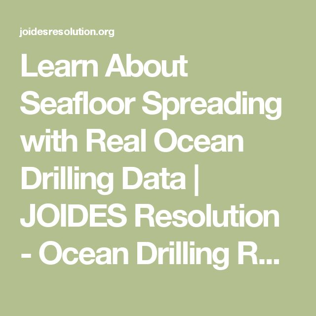 seafloor spreading research paper Journal of geophysical research sea-floor spreading this history of spreading follows closely one previously advocated to explain the.
