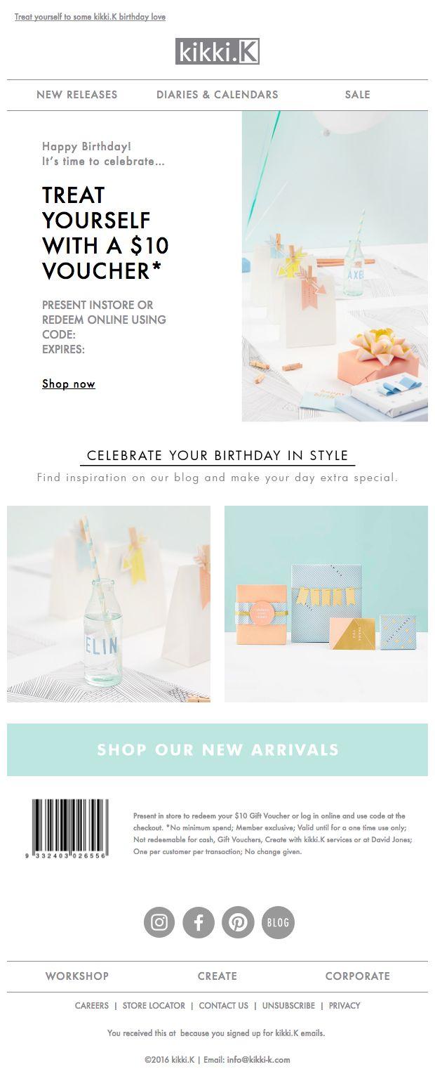 257 best email auto birthday images on pinterest birthday kikki k birthday email june 2016