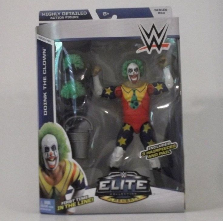 Doink the Clown - WWE Elite 34 Wrestling Action Figure Toy Mattel BRAND NEW #Mattel