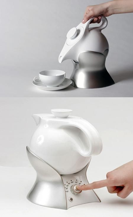 Electric teapot that you can set to the right temperature for the tea you're brewing, and then pour it by tipping it in its heater so you don't have to pick it up.