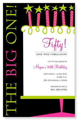 Celebrating 50th Birthday Party | Invitations & Party Invitations