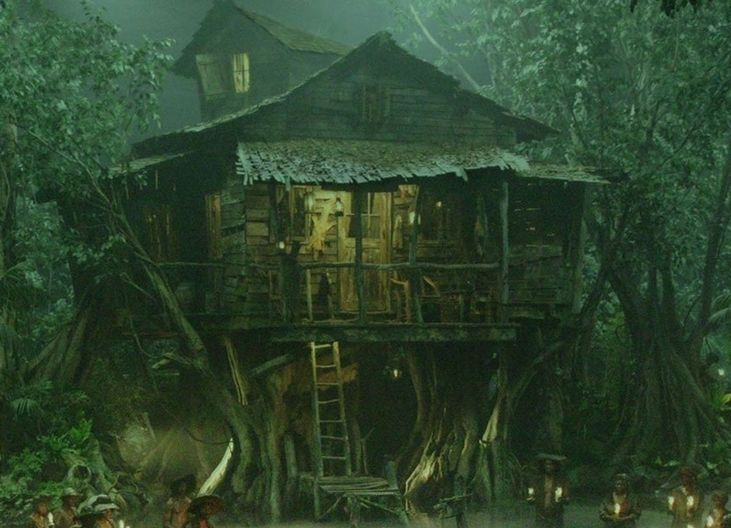 Tia Dalma's shack was a sprawling wooden shack that served as the home to the voodoo priestess...