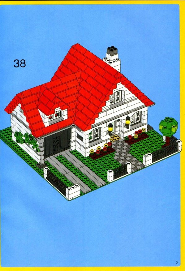 Simple lego house instructions the for Lego classic house instructions