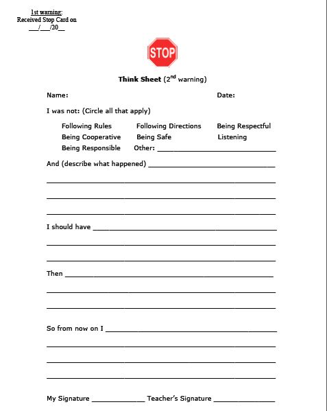 """I like this a lot better than most of the """"letter home to the parents"""" sheets I've seen.  The questions help guide the students through their thought process helping with their higher level thinking about their behaviors."""