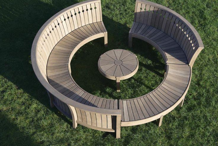 Panca da giardino circolare - Naturale - Legno - Gaze Burvill