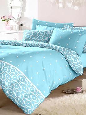 This set of double bedsheet with two pillow covers is in soothing blue colour that will give your room a calming feel. Its clean and minimalist design can go with any kind of style. The 100% cotton fabric is machine washable and will last through multiple washes. The farbric will remain soft and smooth. Our brand add to your house lifestyle with style, comfort and luxury. Info