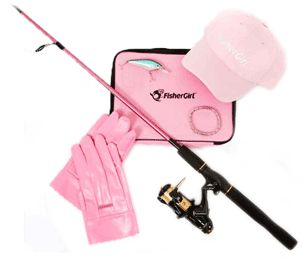 Pink fishing gear. My style.