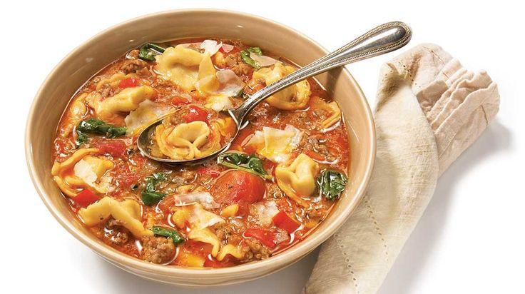 Soupe facile aux tortellinis