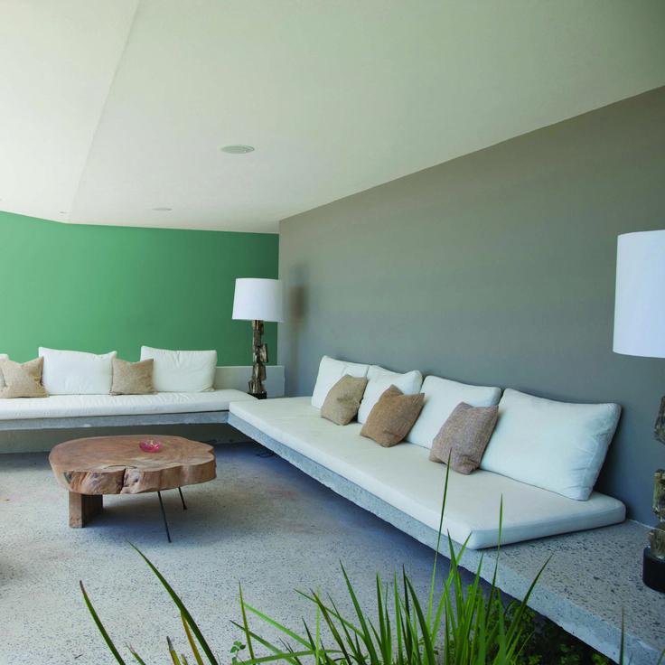 Sala de la tv estilo contemporaneo color verde blanco for Sala estilo contemporaneo