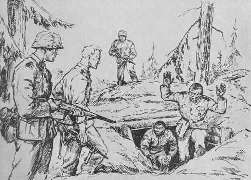 "5sswiking: ""Finn Wigforss was a famous Norwegian artist who served as a war correspondent with Den Norske Legion on Leningrad Front in 1942-1943. These graphic sketches deal with the activities on Leningrad Front and are based on true events. """